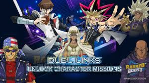yu gi oh duel links character unlock missions how to unlock