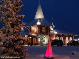 image christmas house in santa claus village in rovaniemi in