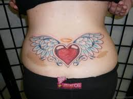 small angel wing tattoos on back 70 super cool heart tattoo on back