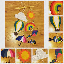 Wall Decoration With Balloons by Handmade Felt Hanging Wall Decoration With Weather Theme Rainbow