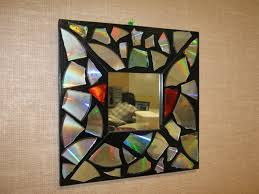 mirror frame made with cd mosaic art ideas for