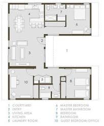 U Shaped House Plans With Courtyard U Plan House Pinterest House Tiny Houses And Small House Plans
