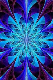 blue kaleidoscope wallpaper 320x480 blue kaleidoscope fractal iphone 3g wallpaper