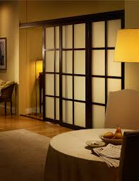 decorations wooden japanese style sliding door with