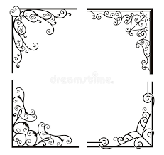 exquisite corner ornamental designs stock photos image 19347933