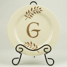 monogrammed platter monogrammed plate diy crafting project