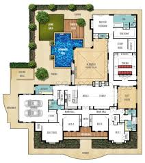 4 Bedroom Home Floor Plans One Story House Plans With Open Floor Plans Design Basics Simple