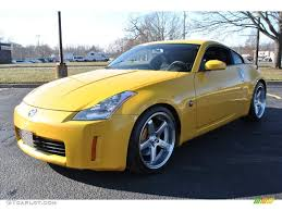 nissan coupe 2005 2005 ultra yellow metallic nissan 350z track coupe 74095718