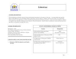 esthetician resume sample job and resume template