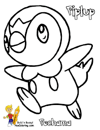 pokemon piplup coloring pages free coloring page