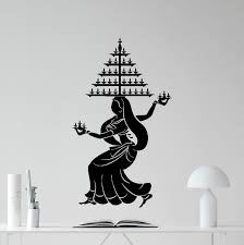 Cool Wall Decals by Indian Dancing Wall Decal Beautiful Woman Indian Dance Hair
