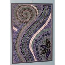 Best Waterfall Mosiac Designs Images On Pinterest Mosaic Art - Wall mosaic designs