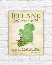 Personalized World Travel Map by Ireland Golf Map Golf Gift Gift For Dad Personalized Travel Map