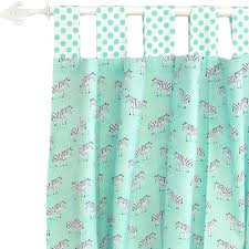 Zebra Curtain Panels Nursery Curtains Kids Curtains Custom Curtains Drapes