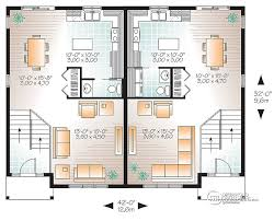 Multi Family Apartment Floor Plans Multi Family Plan W3062 Detail From Drummondhouseplans Com Two