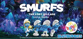 2017 mcdonalds happy meal smurf toys lost village