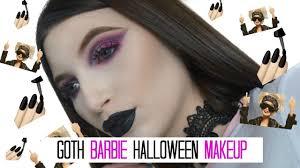 Halloween Barbie Makeup by Goth Barbie Halloween Makeup Tutorial 2016 Morphe 35b Palette