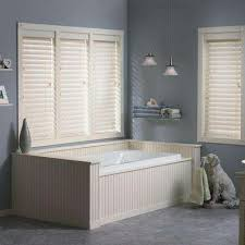 Cordless Wood Blinds 2 5 Cordless Faux Wood Blinds Blinds The Home Depot