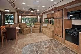bighorn 5th wheel floor plans rv trailers with outdoor kitchens below we show the kitchen of