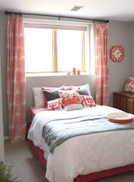 Bedroom With Grey Curtains Decor Amazing Coral And Grey Curtains And Best 25 Coral Curtains Ideas