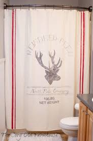 Burlap For Curtains Bathroom Ruffled Burlap Curtains Country Cottage Shower