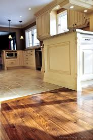 tiled kitchen floors ideas kitchen idea of the day perfectly smooth transition from hardwood