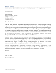 good cover letter example business analyst starengineering