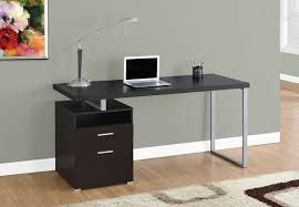 60 Office Desk 60 Single Pedestal Modern Office Desk In Cappuccino Finish