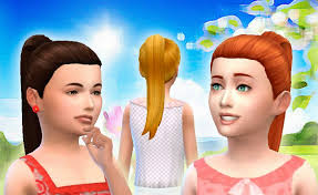 the sims 4 cc hair ponytail my stuff children the sims 3 4 hairstyles pinterest