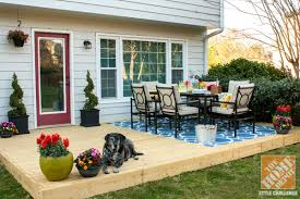 Home Depot Patio Designs Outdoor And Patio Patio Dining Set On Wooden Deck With Flower