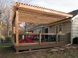 Build A Pergola On A Deck by Boothe Cedar Pergola Over Composite Deck Traditional Deck