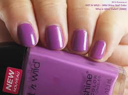 wet n wild u2014 who is ultra violet wild shine nail color swatch