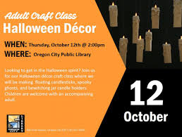 spirit halloween opening date craft class halloween decor city of oregon city