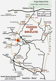 Swaziland Map Swaziland Lodge Your Holiday In A Kingdom