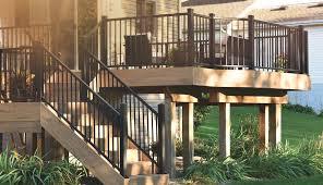 Decking Handrail Deck Railing Composite U0026 Aluminum Deck Railing Timbertech
