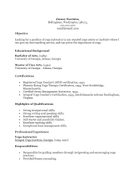 Best Master Teacher Resume Example by Free Yoga Instructor Resume Template Sample Ms Word
