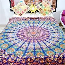 indian mandala handmade hippie ethnic blanket comforter doona