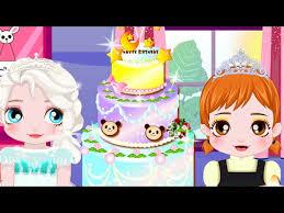 baby elsa birthday cake frozen princess elsa anna cooking