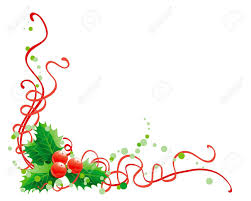 christmas holly decoration vector abstract christmas illustration