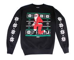 hip hop joins the race for the ugliest christmas sweater mass appeal