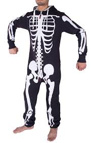 Halloween Skeleton Bodysuit Mens Unisex Halloween Skeleton All In One Onesie Jumpsuit Amazon