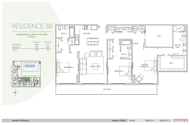 Square Feet To Square Meter Aventura Parksquare 3b Floorplan 3 Bedroom 3 5 Bath Den