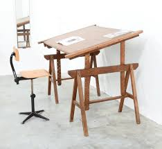 Wooden Drawing Desk 1930s Wooden Drawing Table Vintage Design Point