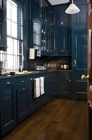 Painted Kitchen Cabinets Project For Awesome Dark Blue Kitchen - Blue painted kitchen cabinets