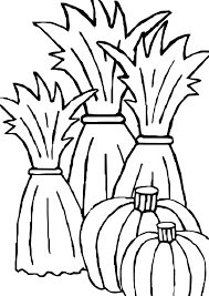 Fall Halloween Coloring Pages by Awesome Corn Stalk Coloring Page 08 09 2015 081307 Coloring