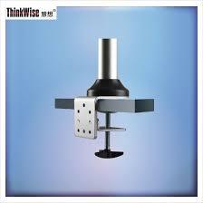 adjustable standard vesa swivel pivot monitor stand clamp on glass