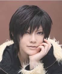 universal black hair black universal warped short hair male hair anime cosplay wig male
