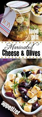 unique food gifts marinated cheese and olives savory appetizer or unique