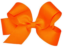 wee ones hair bows wee ones large grosgrain bow orange at shopthatstore