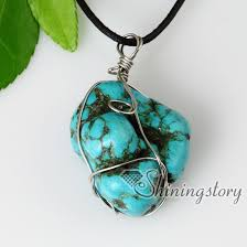 leather turquoise necklace images 2013 new style semi precious stone turquoise stone pendants jpg